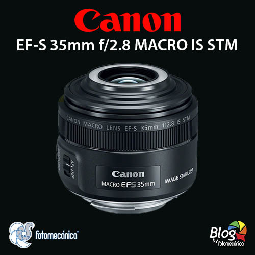 Canon EF-S 35mm f/2.8 Macro IS STM con LEDs incluidos.